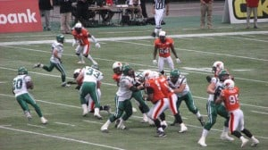 Lions and Riders do battle under the dome.