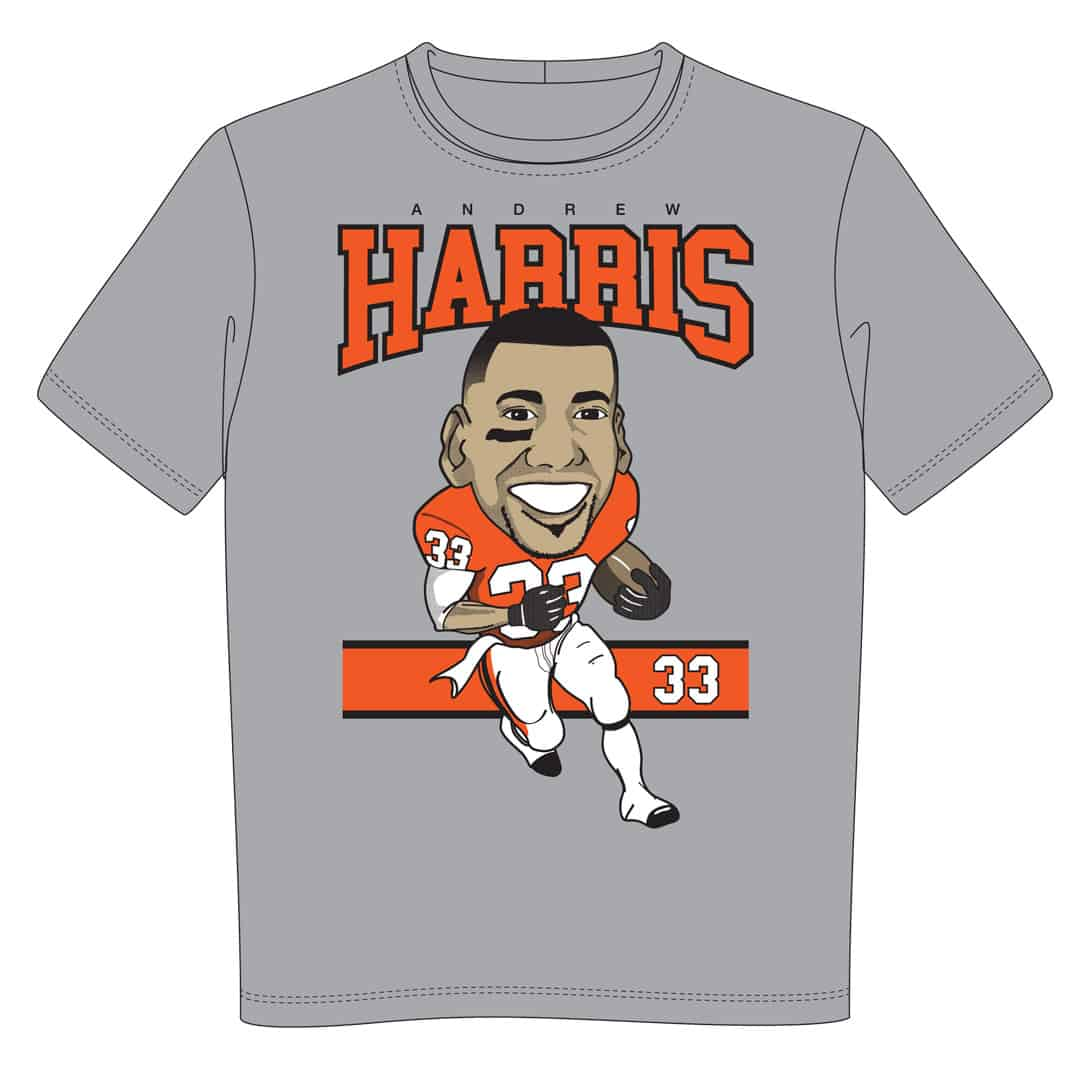 T shirt for charity andrew harris and angus reid team up for Bc lions t shirts